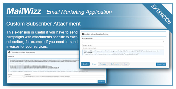 MailWizz EMA - Custom subscriber attachment - CodeCanyon Item for Sale