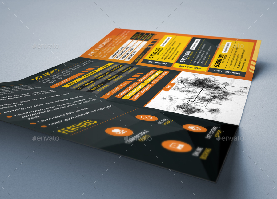 Trifold Brochure 40 Bus Transportation Agency By