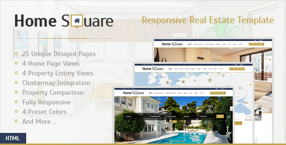 Home Square - Responsive Real Estate Template - Business Corporate