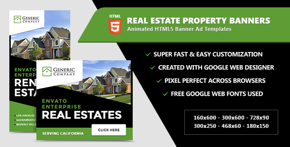 Real Estate Property Banners - HTML5 Ads - CodeCanyon Item for Sale