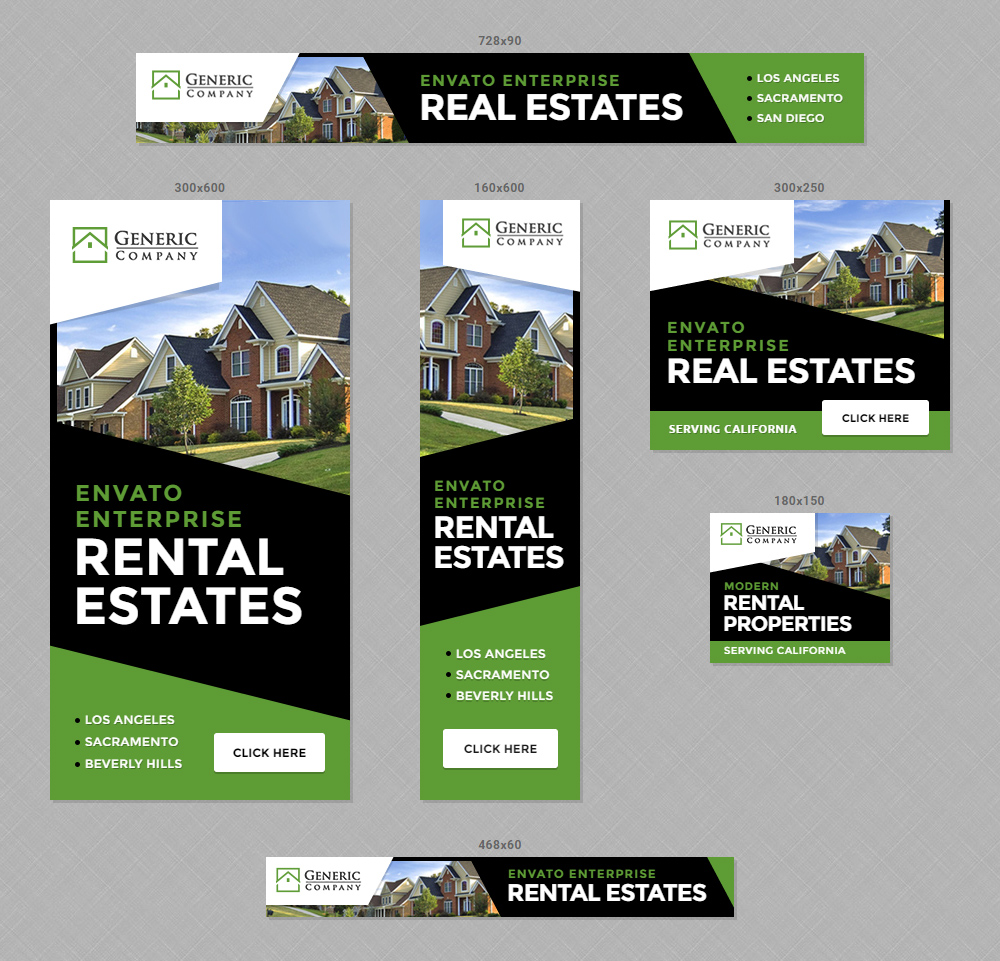 Real Estate Property Banners - HTML5 Ads by InfiniWeb | CodeCanyon