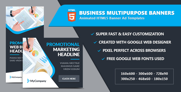Business Banner Ads / Multipurpose - HTML5 GWD - CodeCanyon Item for Sale