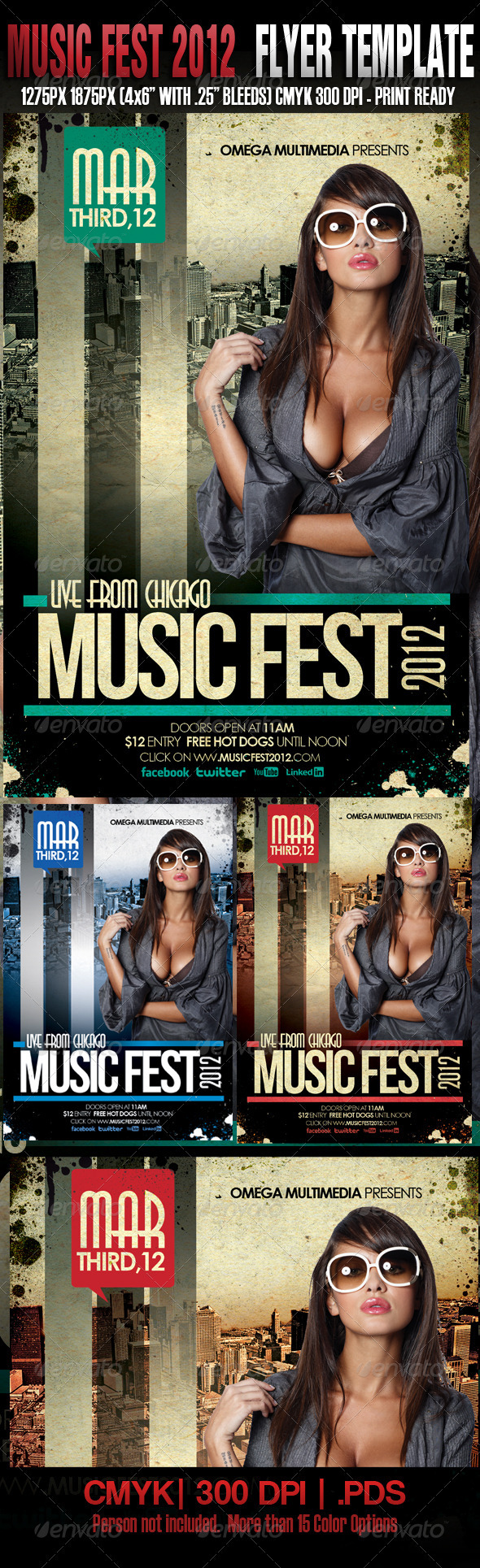 Music Fest Template - Clubs & Parties Events