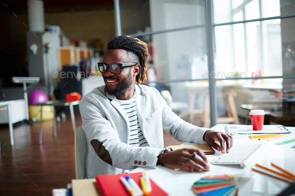 Positive freelancer - Stock Photo - Images