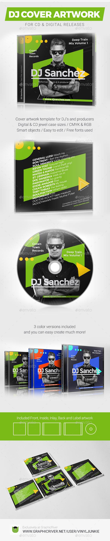 ProDJ - DJ Mix / Album CD Cover Artwork PSD Template - CD & DVD Artwork Print Templates