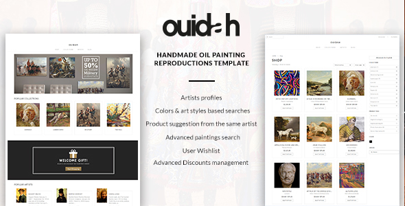 Ouidah – Art & Digital Products Martketplace template