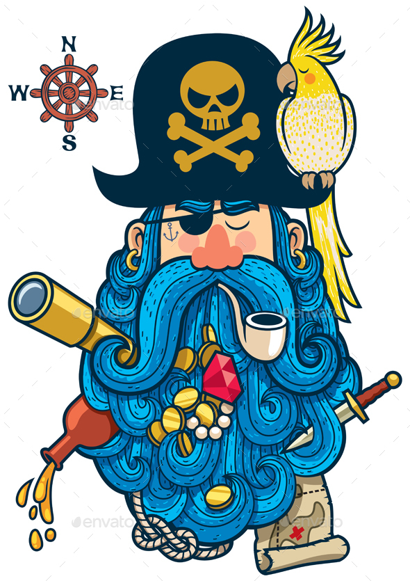 Pirate Portrait - People Characters