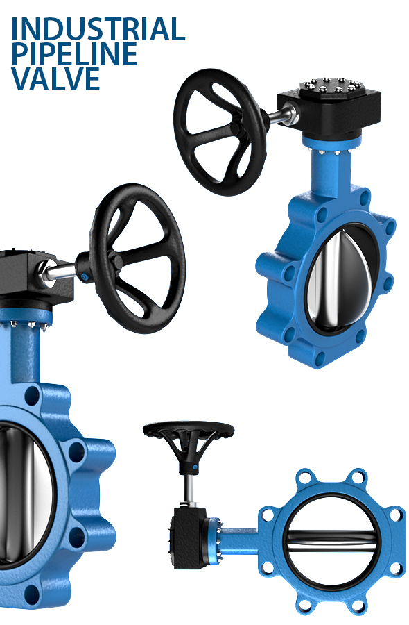 Industrial Pipeline Valve - 3DOcean Item for Sale