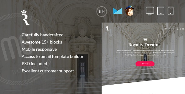 RoyalLetter - Responsive Email  + Builder Access - Email Templates Marketing