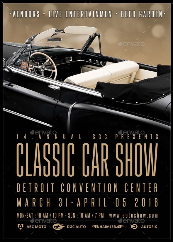Classic Car Show Flyer Kirmiyellowriverwebsitescom - Blank car show flyer