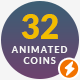32 Animated Clear Coins - VideoHive Item for Sale