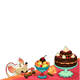Funny Mouse with Cake for Cards and Graphics - GraphicRiver Item for Sale