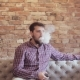 Handsome Man Smoking Electric e Cigarette Vapor - VideoHive Item for Sale