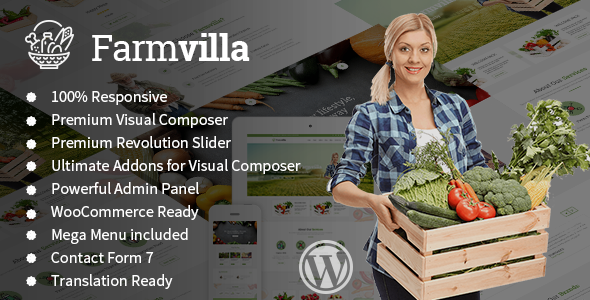 Farmvilla – Organic Food WordPress Theme
