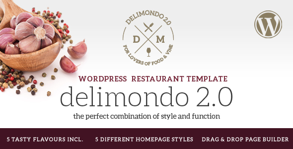 Delimondo 2.0 - 5 Styles Restaurant & Food WP Theme