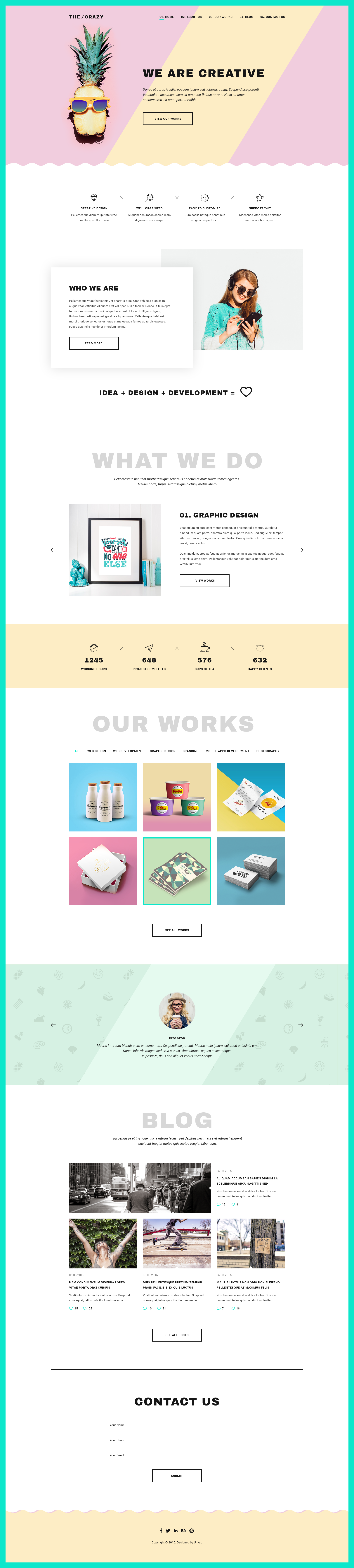 The Crazy - Creative Agency WP Template by NoxonThemes | ThemeForest