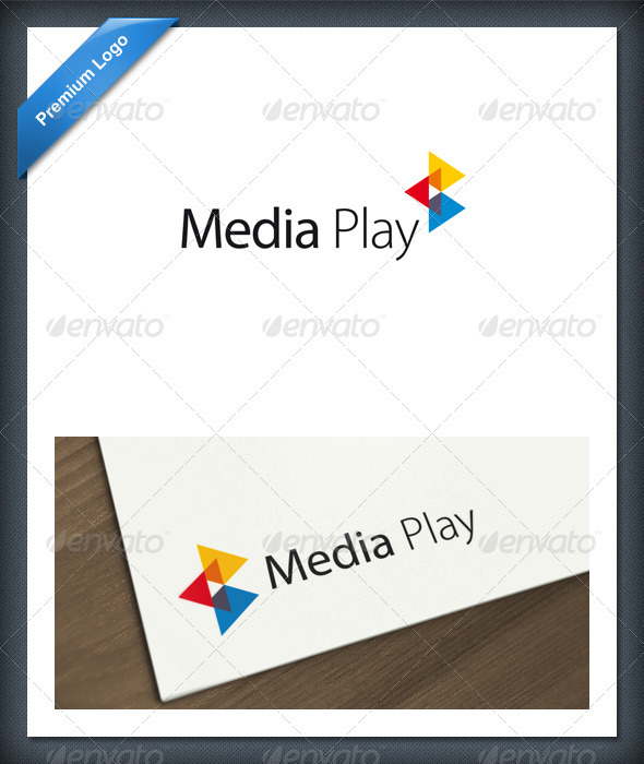 Media Play Logo Template - Abstract Logo Templates