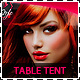 Hair Salon Fashion Table Tent - GraphicRiver Item for Sale