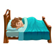 Boy is Sleeping on His Bed - GraphicRiver Item for Sale