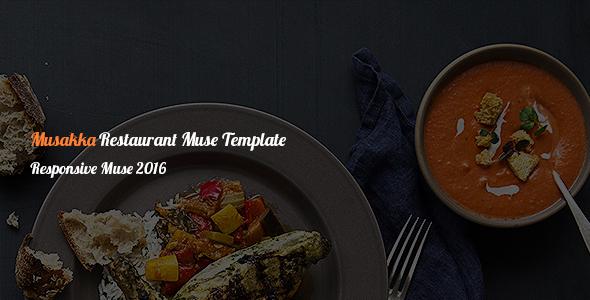 Musakka Responsive Restaurant Muse Theme