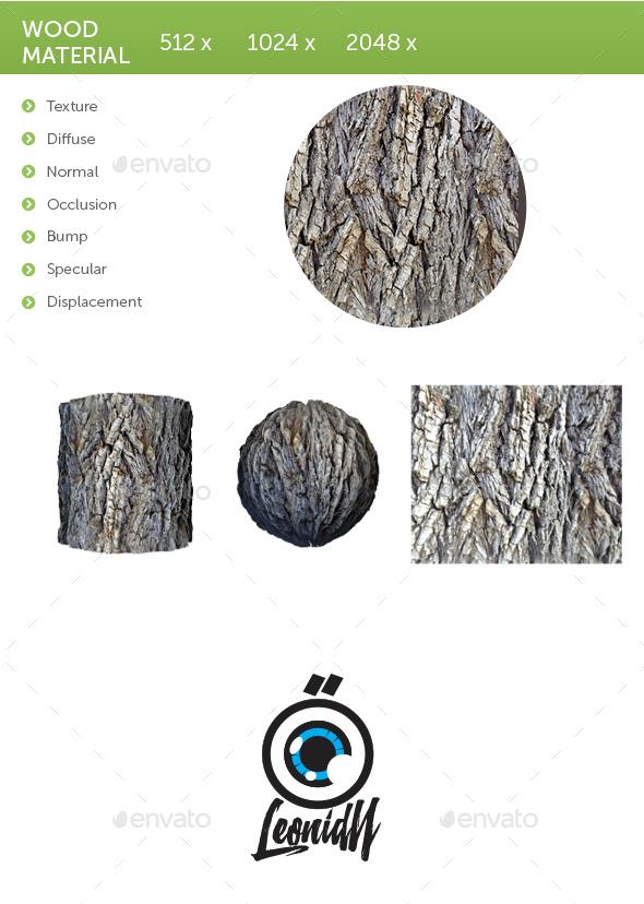 Wood material - 3DOcean Item for Sale