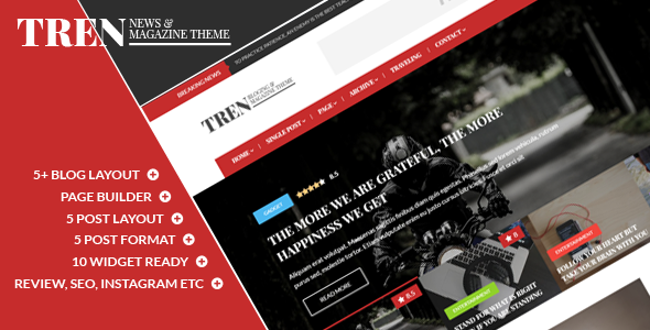 Tren – Blog & Magazine WordPress Theme
