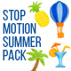 Stop Motion Summer Elements - VideoHive Item for Sale