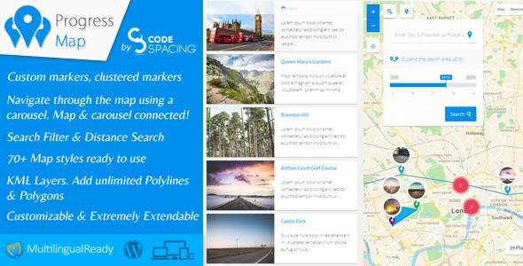 Progress Map Wordpress Plugin - CodeCanyon Item for Sale