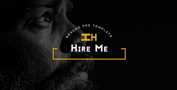 Hire Me – Personal vCard PSD Template