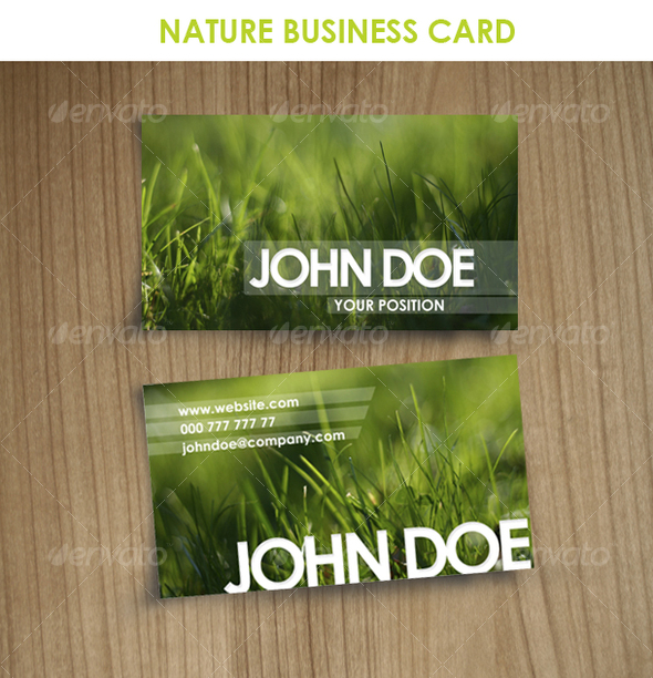 Nature business card by jocosity graphicriver nature business card real objects business cards reheart Image collections