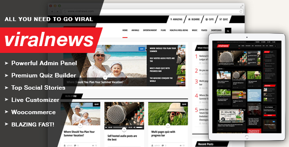 ViralNews – Buzz WordPress theme
