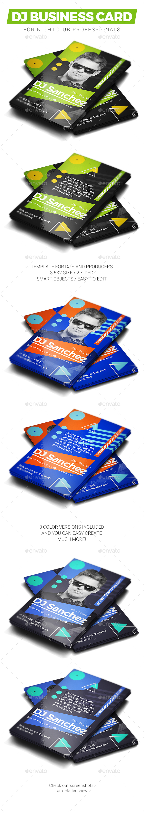 dj business card graphics designs templates from graphicriver