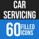 Car Servicing Blue & Black Icons - GraphicRiver Item for Sale