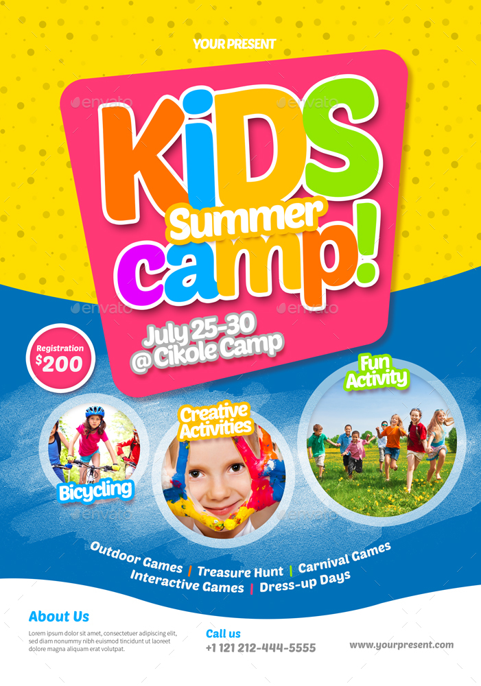 Kids Summer Camp Flyer By Monogrph | Graphicriver