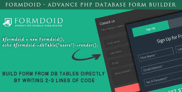 Formdoid - Advance PHP Database Form Builder - CodeCanyon Item for Sale