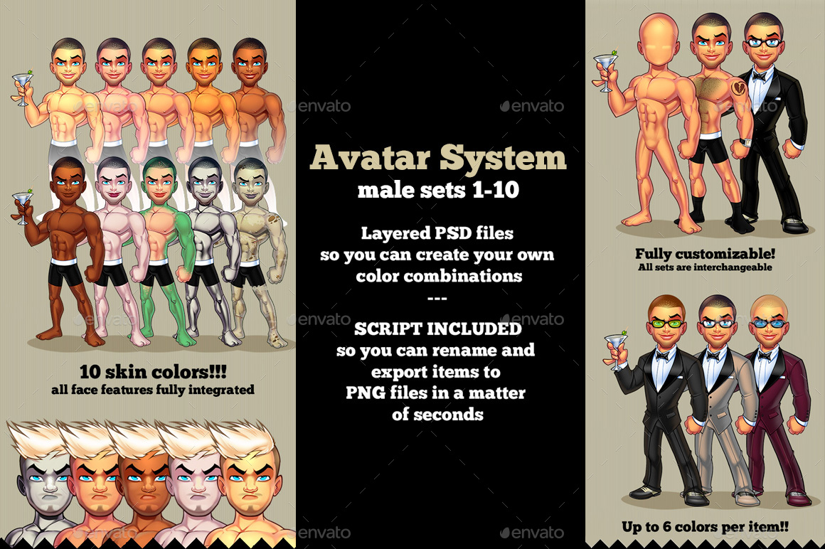 Avatar Creator 1-10 Bundle