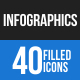 Infographics Blue & Black Icons