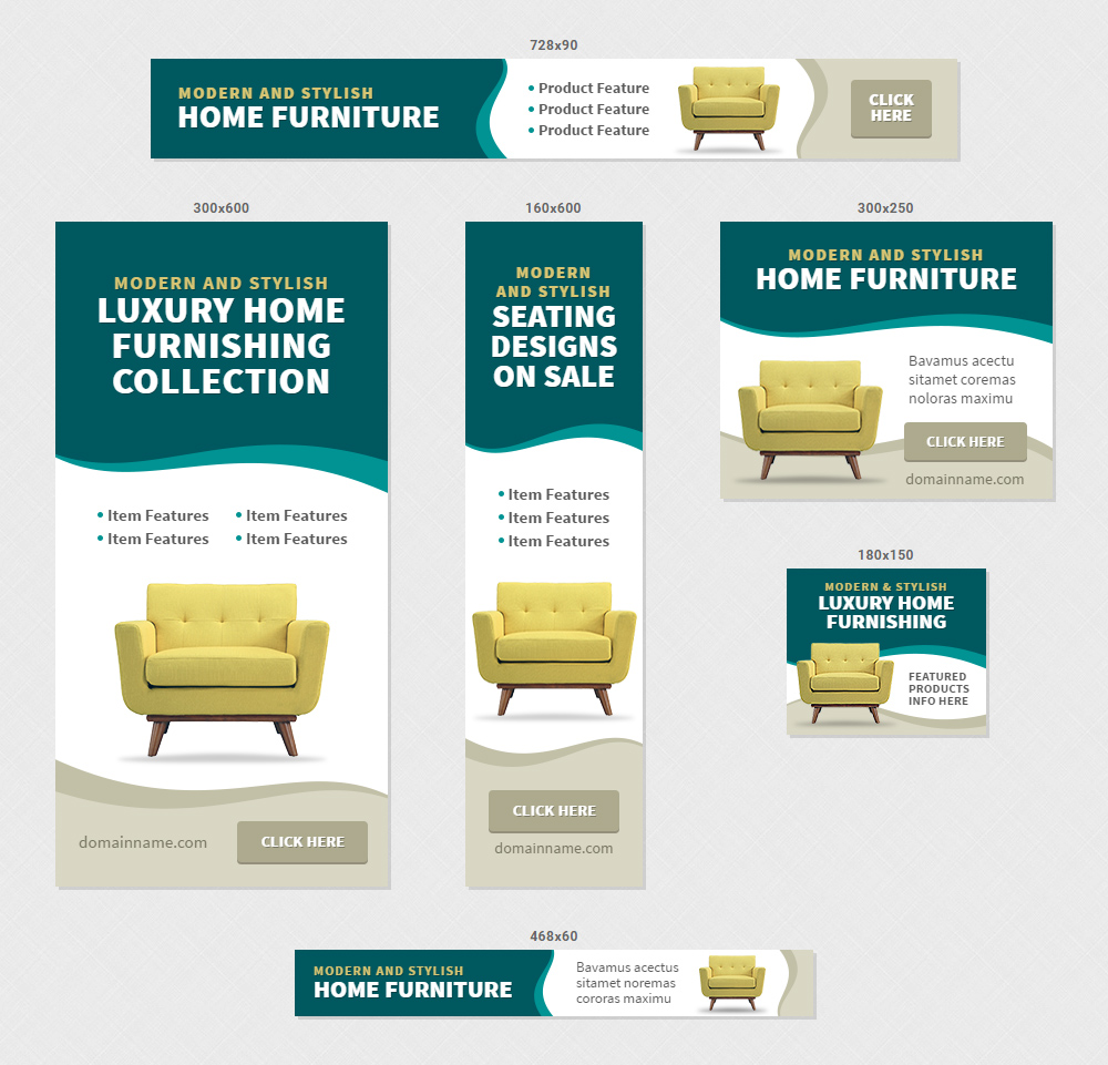 Furniture Home Decor Banner Ads Html5 Gwd By Infiniweb Codecanyon