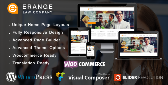 Erange- Law Firm WordPress Theme - Business Corporate