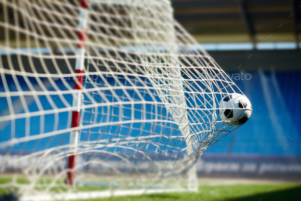 Soccer goal - Stock Photo - Images