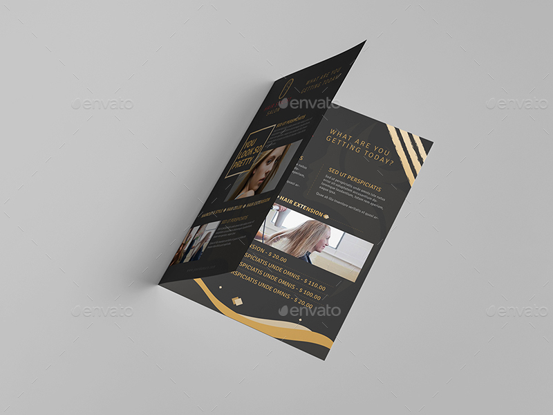 Hair Stylist Salon A5 Brochure Template By Wutip2 Graphicriver