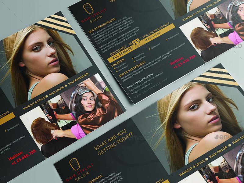 Hair Stylist Salon Flyer Template by wutip2 – Hair Salon Flyer Template