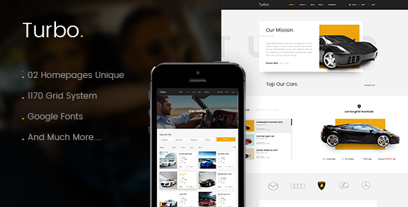Turbo - Car Rental HTML Template - Retail Site Templates