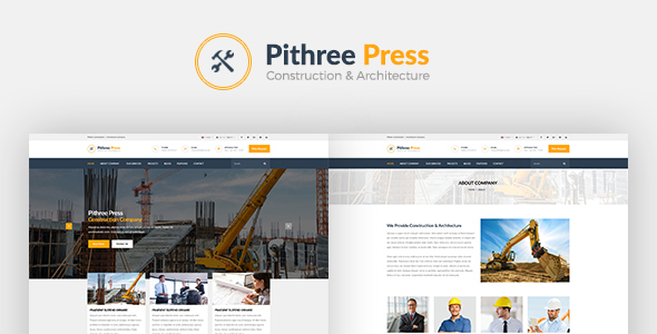 Pithree Press - Construction Business HTML Template - Corporate Site Templates