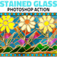Mosaic Stained Glass Photoshop Action - GraphicRiver Item for Sale