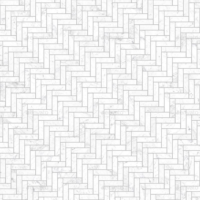 Seamless Small Marble Herringbone tiles