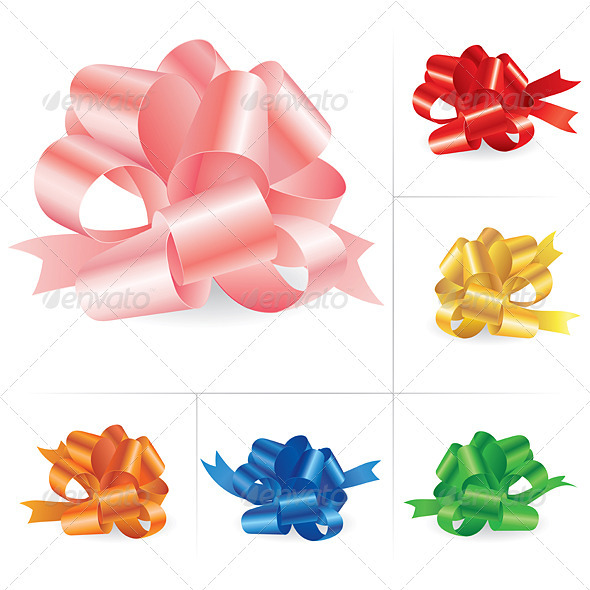 Collection of celebratory bows #3 - Backgrounds Business