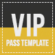 Multipurpose Vip Pass - GraphicRiver Item for Sale