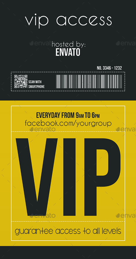 multipurpose vip pass by tzochko graphicriver