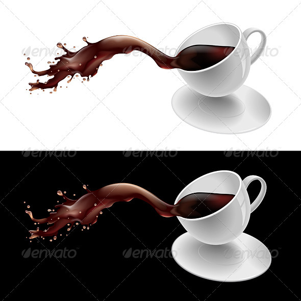 Coffee Splashing - Food Objects